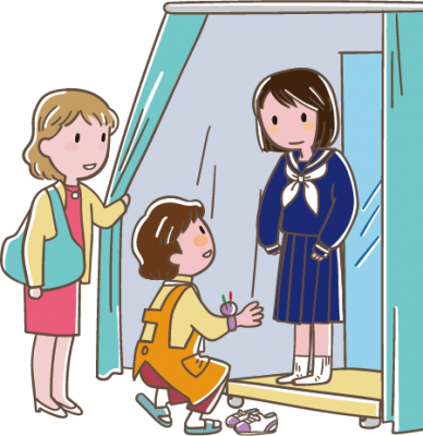 女子学生服の採寸